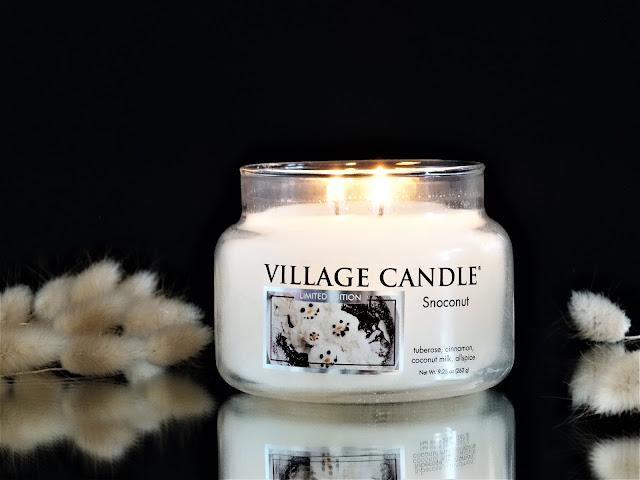 village candle snoconut avis, bougie snoconut village candle, avis bougie, bougie de noel, bougie parfumee noel