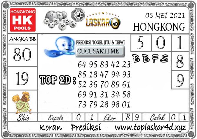 Prediksi Togel HONGKONG POOLS LASKAR4D 05 MEI 2021
