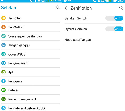 Menu Zenmotion