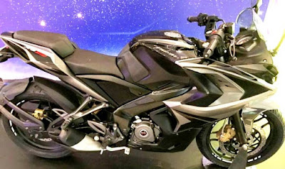 2017 Bajaj Pulsar RS200 Grey colour side profile picture