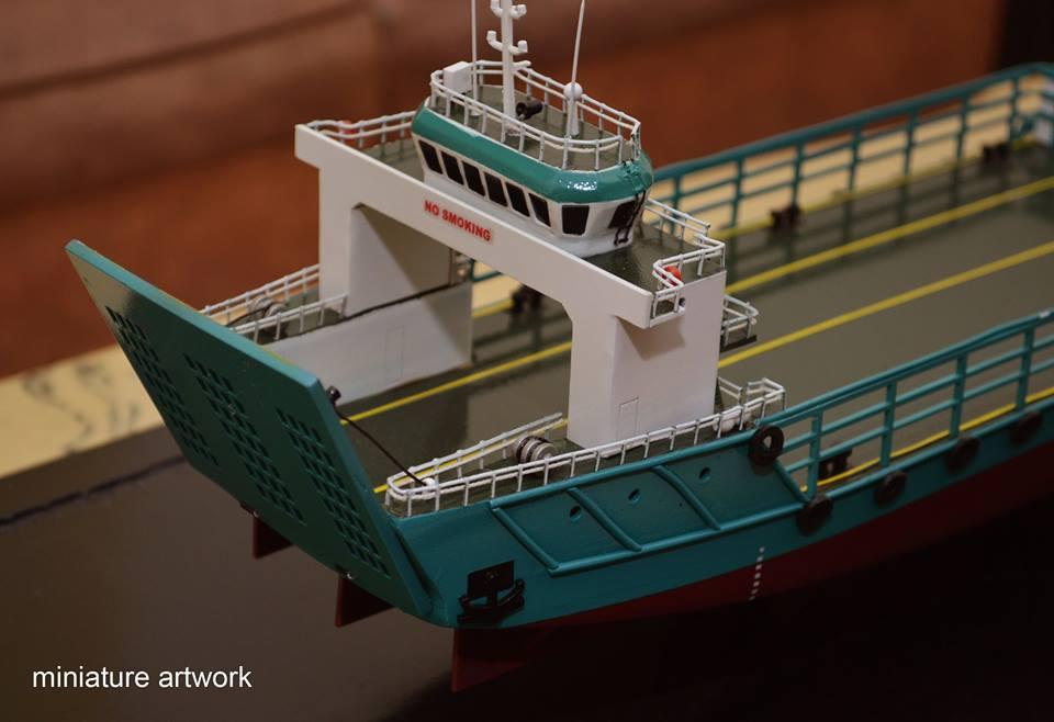 sketsa desain miniatur kapal lct toll jade general cargo ship milik perusahaan toll logistic asia ltd singapura