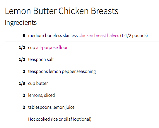 Lemon Butter Chicken by Julia's Album.  click for the recipe