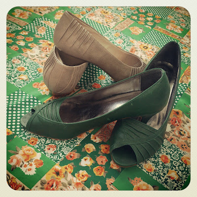 vegan shoes, vegetarian shoes, vintage fabric, green