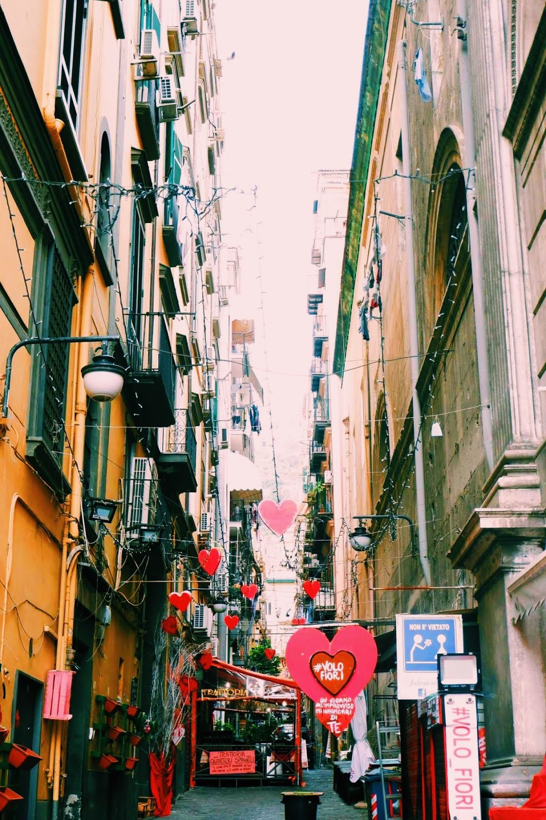 Streets in Naples, the Spanish Quarter