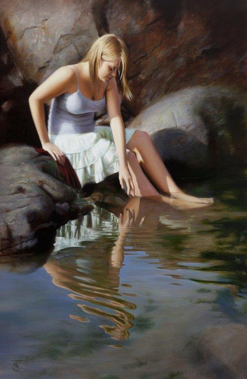 Tina Spratt pinturas a óleo mulheres renascentistas