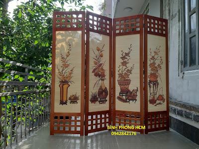 Bình phong gỗ bán tại hcm