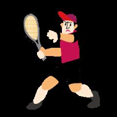 I love tennis! A tennis player