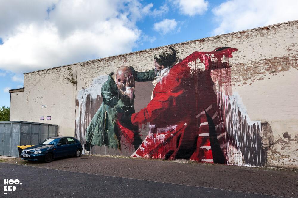 Irish artist Conor Harrington's Walthamstow Street Art Mural