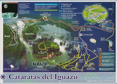Mapa Cataratas de Iguazú, Argentina, vuelta al mundo, round the world, La vuelta al mundo de Asun y Ricardo
