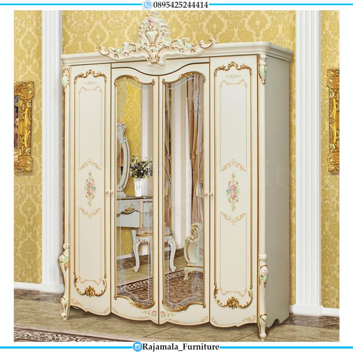 Great Lemari Baju Kaca Mewah Luxury Carving Classic Furniture Jepara RM-0560