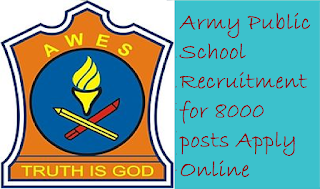 APS Recruitment 2018 | Army Public School Notification & Vacancies 2018-19 – Apply Online