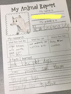 third grade animal research reports
