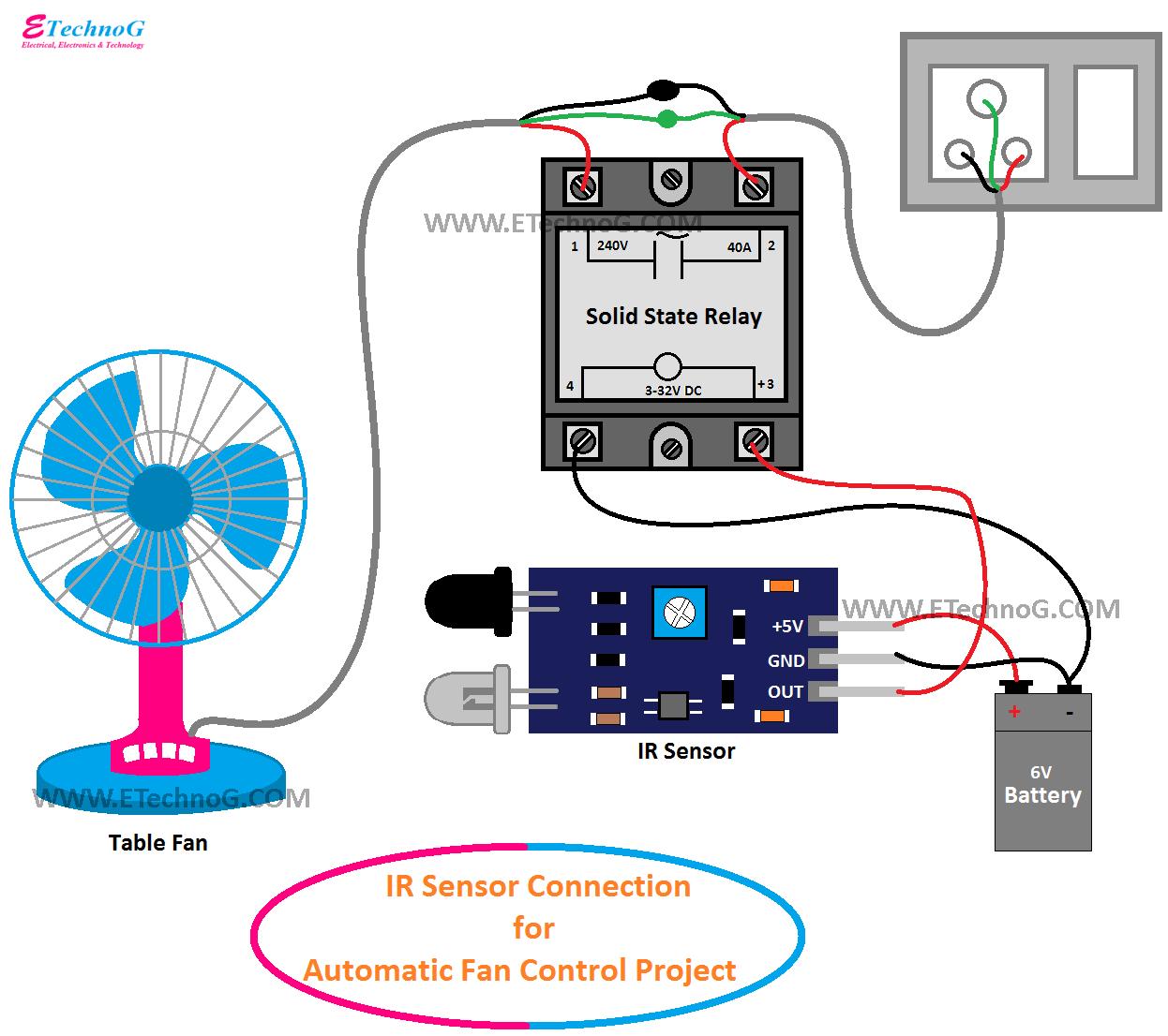IR Sensor Connection, connection of IR Sensor, IR Sensor Project