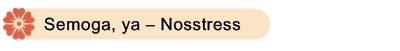 Semoga, ya - Nosstress