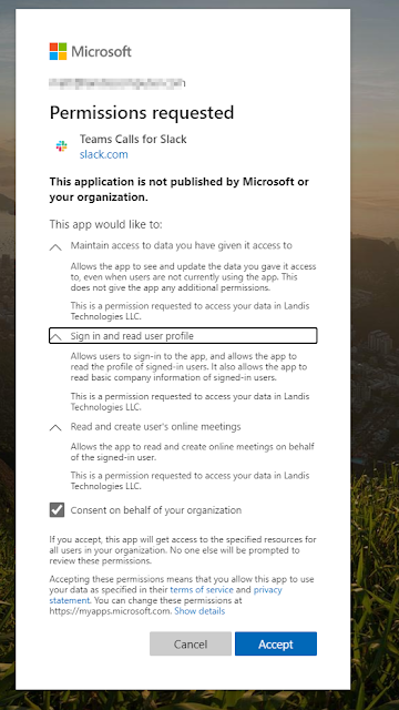 microsoft%2Bpermissions How Microsoft Teams Calls App for Slack Works