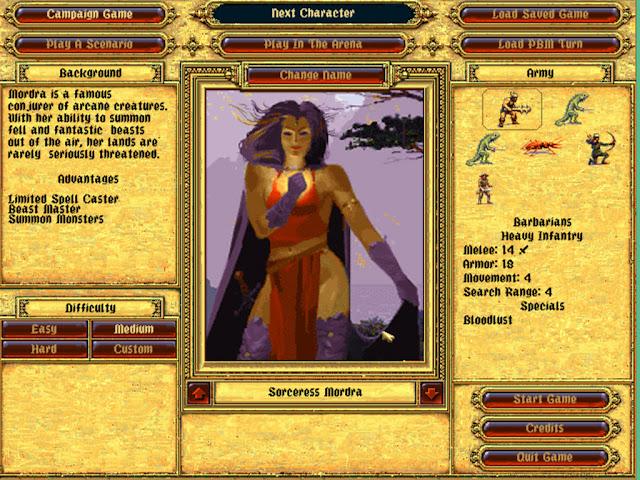 Sorceress Mordra | Fantasy General Screenshot