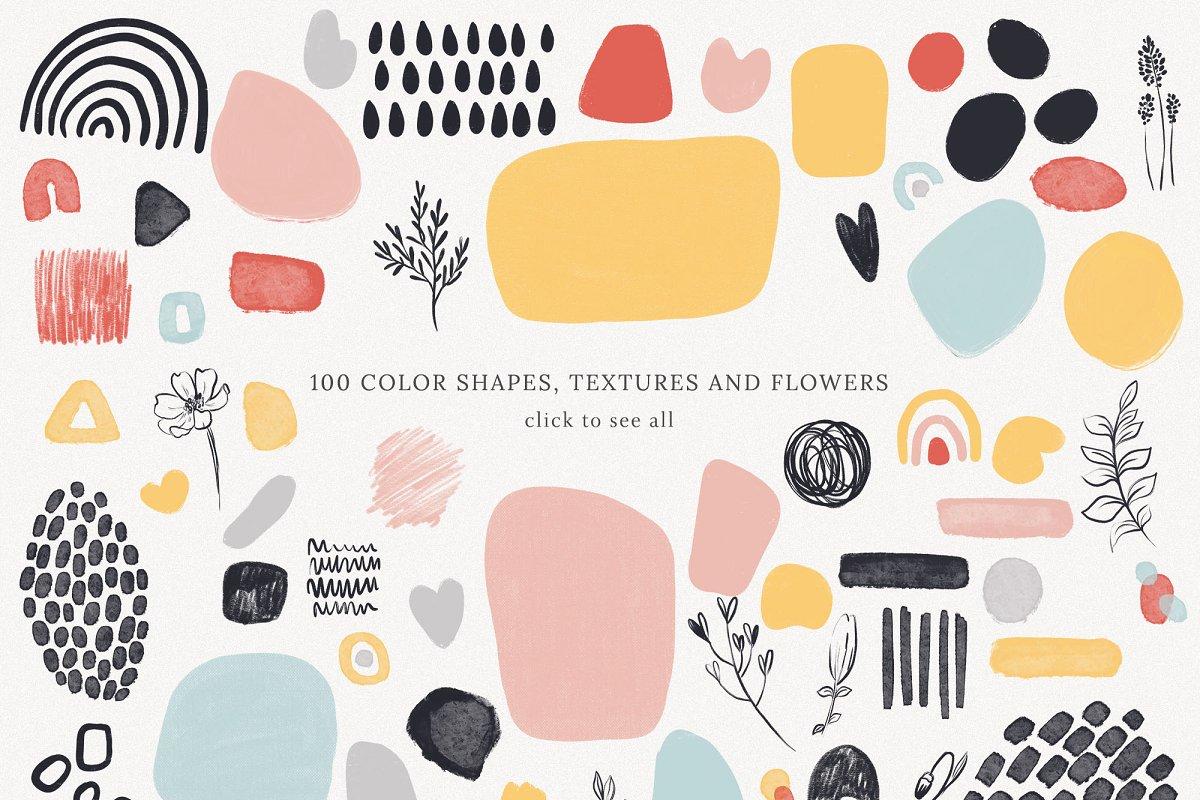Abstract Shapes Print Graphics Vol.1 (PNG, JPG, PSD)