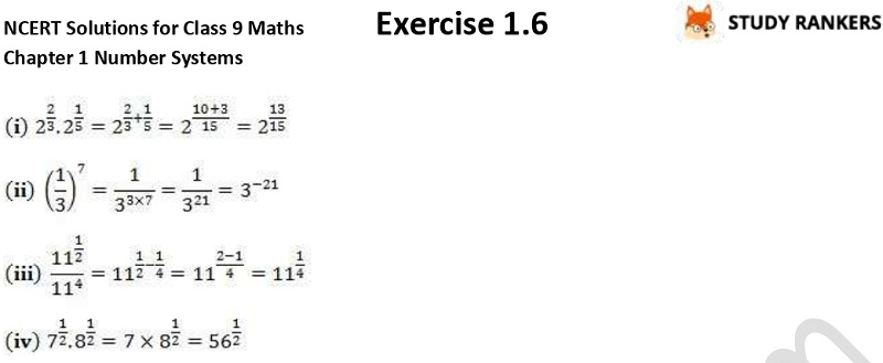 NCERT Solutions for Class 9 Maths Chapter 1 Number Systems Exercise 1.6 Part 2