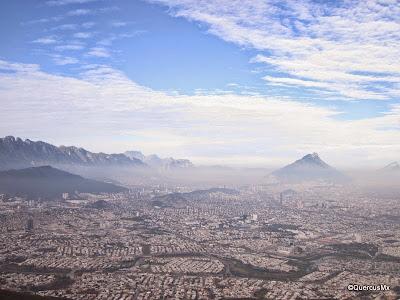 Vista de la ciudad de Monterrey desde el Teleférico - Cerro de la Silla