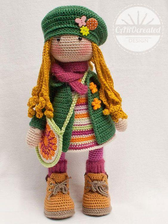 Boneca amigurumi/ boneca crochê (Angela) | Bonecas de crochê ... | 752x564