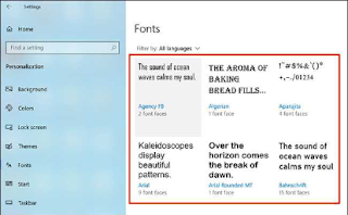 how to install windows 10 font