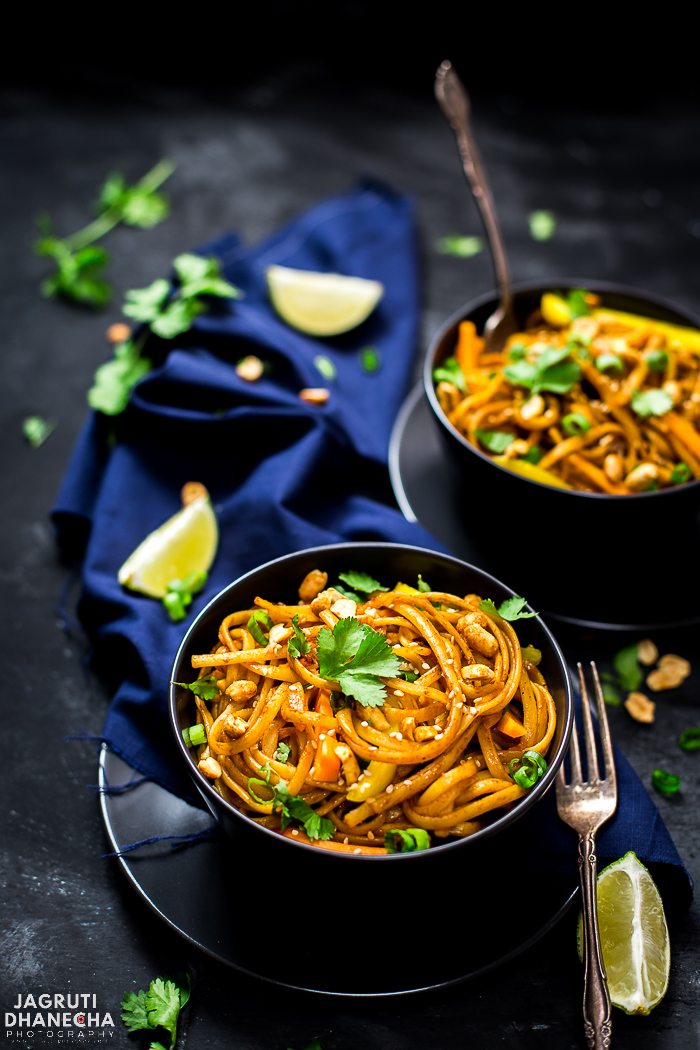 Don't have much time on your hand to make a decent meal? Not to worry, make this Vegan Thai Peanut Noodles, it will take ONLY 30 minutes on the stovetop or in an Instant Pot. This colourful dish is packed with flavours and is totally plant-based.