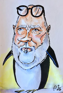 Caricature Xavier Gorce ©Guillaume Néel