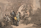 Sculptor Shop by Thomas Rowlandson - Genre Drawings from Hermitage Museum