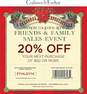 Crabtree & Evelyn coupons for april 2017