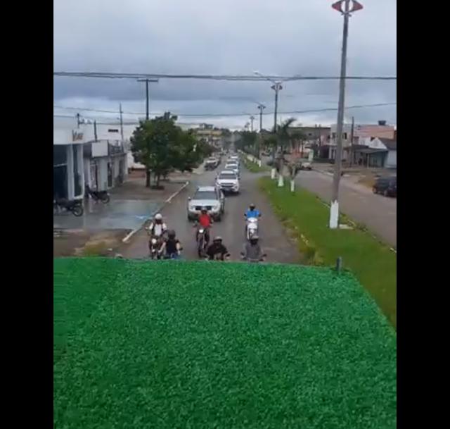 Comerciantes de Nova Brasilandia D'oeste Organiza Carreata e Fazem Manifestação Contra Fechamento de Comércios
