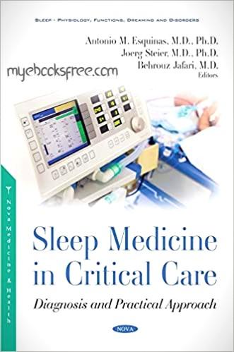 Sleep Medicine in Critical Care Medicine Pdf Book By Antonio, Jafari