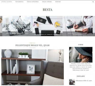 BESTA: szablon na bloga