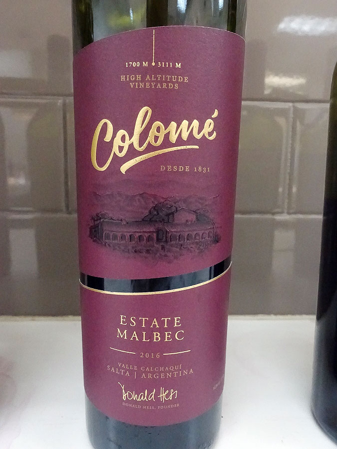 Colomé Estate Malbec 2016 (90+ pts)