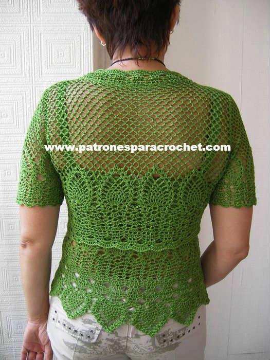 patrones top y bolero crochet