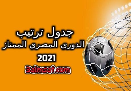 جدول ترتيب الدوري المصري 2021