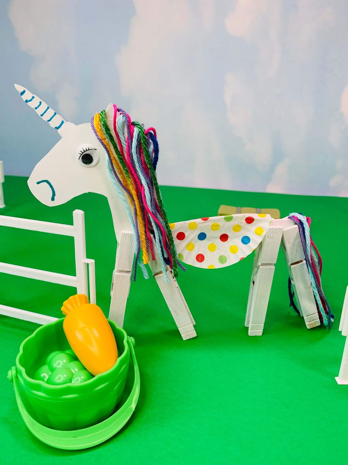 Clothespin Unicorn Craft for Kids