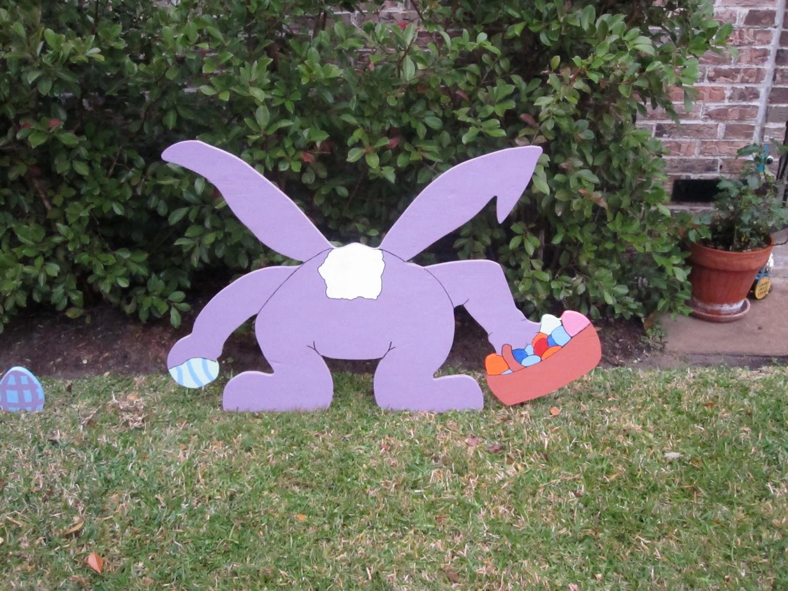Easter Yard Art  DUMB WHITE HUSBAND