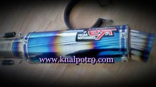 Jual Knalpot R9 Monza Blue Untuk Vixion