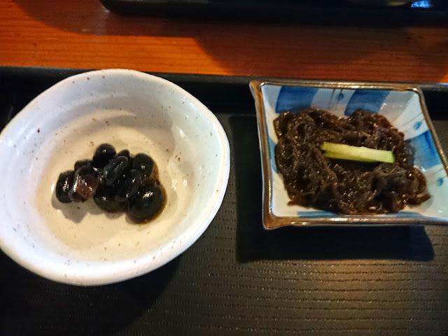 黒豆ともずく酢の写真