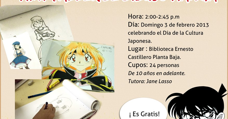 Mini Taller De Dibujo Manga Gratis En Panamá