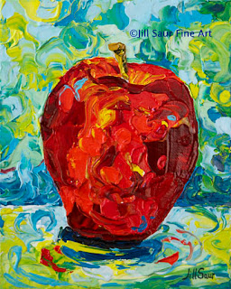 apple painting, Jill Saur