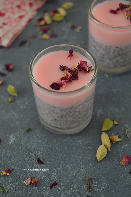 Rose Cardamom Chia Pudding Recipe | Chia Seed Recipes