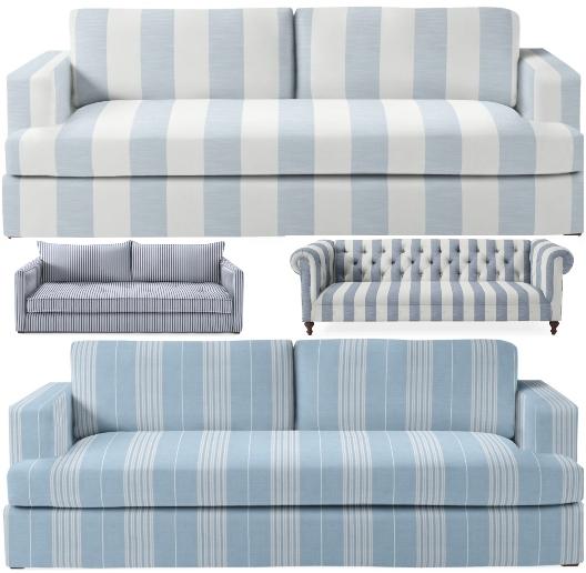 Coastal Stripe Sofas