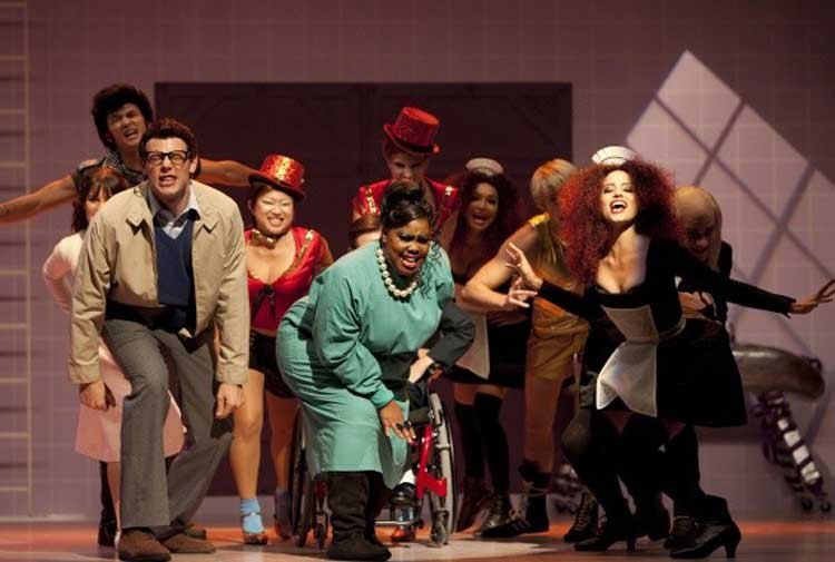 The cast of Glee performs The Rocky Horror Picture Show in the episode of the TV show.