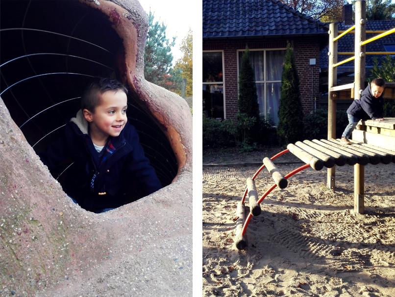 Grote speeltuin in Landal Heideheuvel
