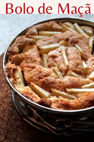 Receita de bolo de maçã, bolo de frutas