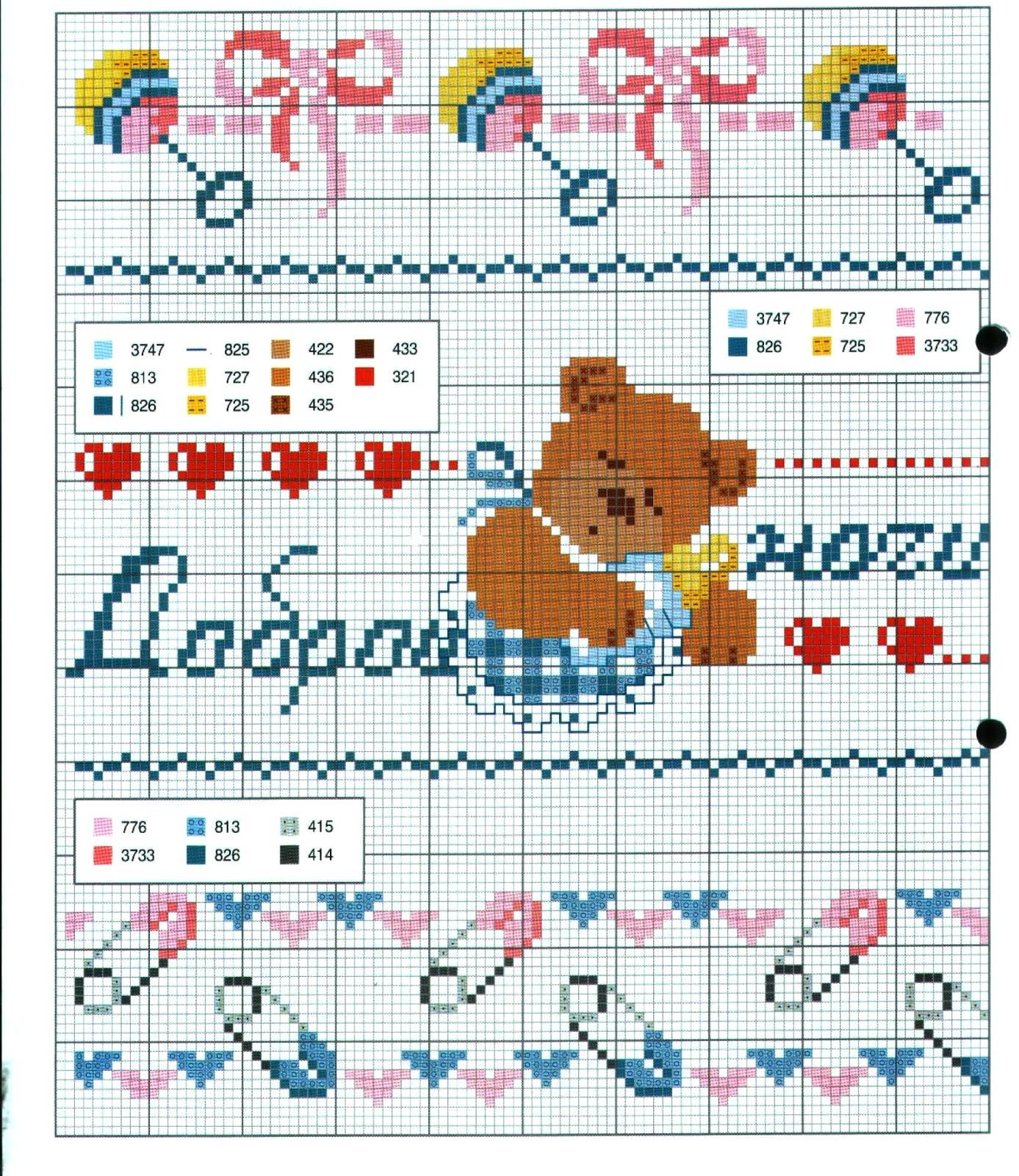 Ricami e schemi a punto croce gratuiti schemi a punto for Ricami a punto croce per neonati