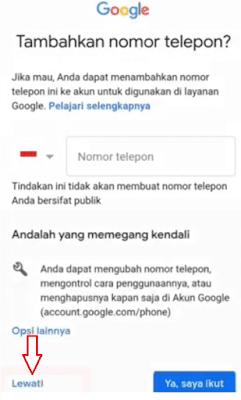 Daftar Email Gmail Baru Tanpa Verifikasi Nomor HP