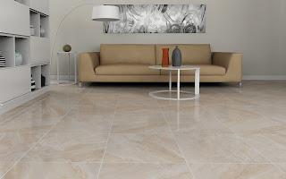 Lantai keramik Roman yang bermotif seperti marmar