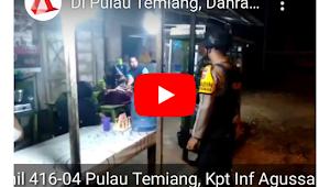 TNI-Polri Bubarkan Warga Yang Berkumpul di Pasar Pulau Temiang Tebo